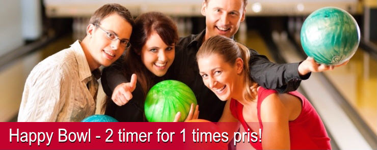 Få 2 timers bowling for 1 times pris!